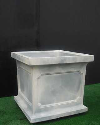 crescent garden planters. the estate planters are available in two sizes. they make a dramatic statement when used residential or commercial settings. top rims rolled deep crescent garden c